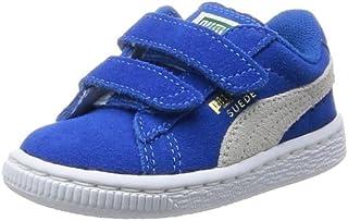 PUMA Kids' Suede 2 Straps INF Walking Baby Trainers, Snorkel Blue-White