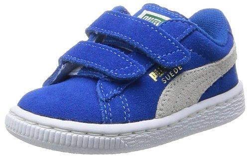 [プーマ] 運動靴 スウェード 2ストラップ キッズ シュノーケルブルー/ホワイト(02) 12.0(12cm)