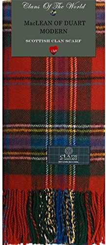 I Luv Ltd MacLean of Duart Modern Tartan Clan Scarf 100% Soft Lambswool