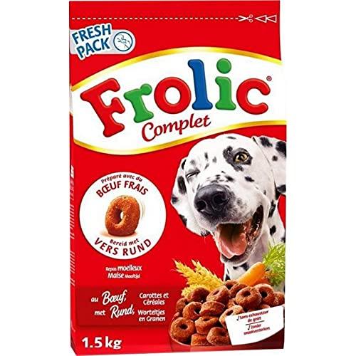 Frolic Complet Croquettes Chiens Boeuf Carottes Céréales 1,5Kg (Lot de 3)