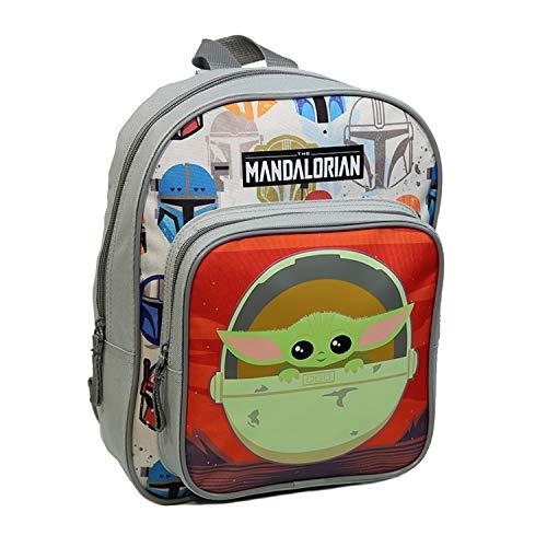 Kindergarten-Rucksack, 31 cm, mit Tasche, Star Wars/The Mandalorian Baby Yoda, Grau