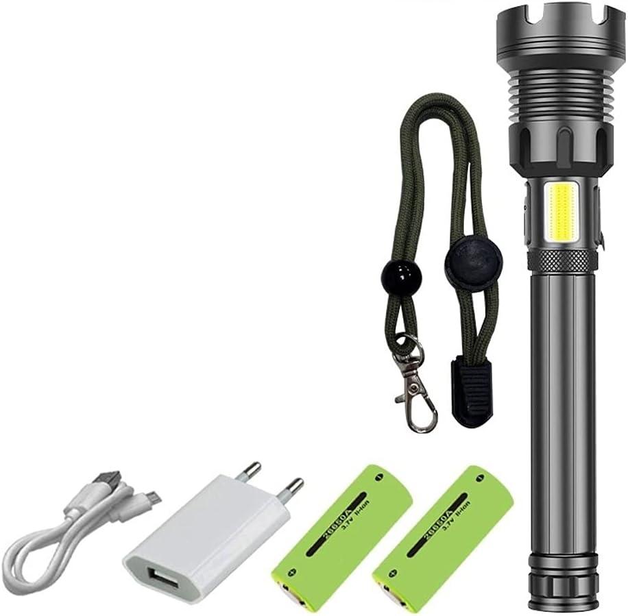 Mifty Potlight Max 42% OFF Flashlight USB High material High Power Beam Powerful Zoom Spot