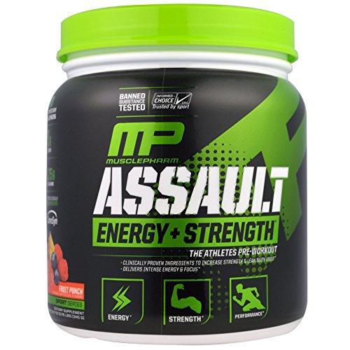 MusclePharm, Assault, Pre-Workout, Fruit Punch, 12.17 oz (345 g) MSF-04781