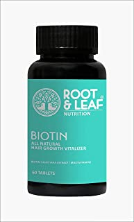 Root and Leaf Nutrition Biotin All Natural Hair Growth Vitalizer 60 Tablets For Man / Women