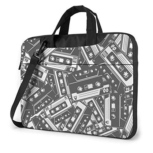 Au-diotape Printed Laptop Shoulder Bag,Laptop Case Handbag Business Messenger Bag Briefcase