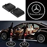 BoyangSales Fit Mercedes-Benz Car Door Lights Logo Suitable Fit All Models Car Door Projector Light Led Welcome Lights Car Logo(2PCS)