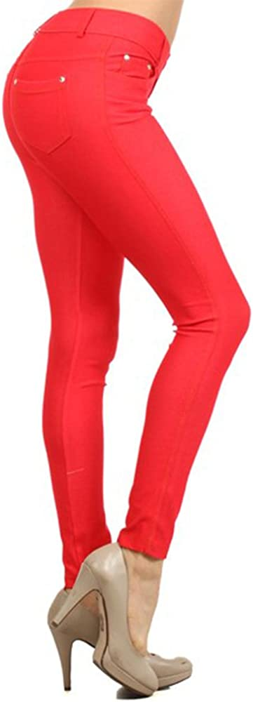 Max 50% OFF TZ Promise Women's Solid Color Soft Pants Max 69% OFF Stretch Full Skinny Le