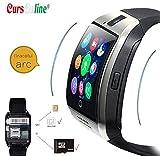 CursOnline New Smart Watch Arc Orologio Telefono con Design Curvo Sim Slot Micro SD Tecnologia NFC Bluetooth Comodo Pratico e Leggero.