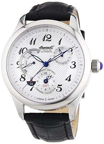 Ingersoll IN8410WH - Reloj de Pulsera Hombre, Piel, Color Negro