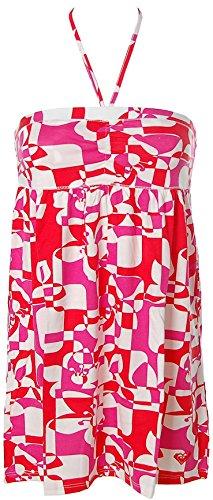 Roxy Damen 2in1 Kleid Strandkleid Rock Strandrock Rot XL