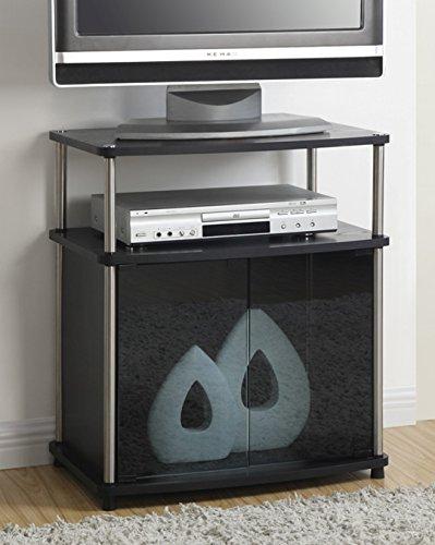 Convenience Concepts Designs2Go TV-Ständer mit Schrank für Flachbildfernseher bis 63,5 cm oder 22,6 kg 43-5/8 in. W x 15-3/4 in. D x 26-3/4 in. H schwarz