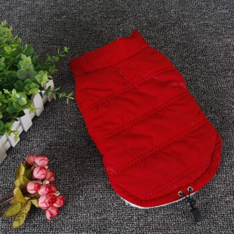 Dvfgsxxht Dog Clothing Pet Supplies Misc Dog clothes autumn and winter fashion plus velvet warm jacket puppy pet puppies lapel clothes (color   Red, Size   XL) Pet Dog Dress (color   Red, Size   XL)