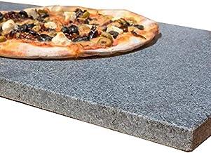 LAMAC CRAFTS - Rectangular Granite Pizza Stone/Baking Stone (40cm X 30cm)