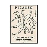 Carteles e impresiones de Picasso Matisse Vintage abstracto chica cuerpo flor pared arte sin marco decorativo lienzo pintura G 15x20cm