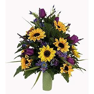 Spring Vase Flower – Cemetery Flowers~Cemetery Styrofoam Vase Insert~Cemetery Vase Arrangement~Graveside Flowers~