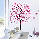 Cartoon arbre papillon DIY Stickers muraux, ividz arbres Stickers muraux Papier peint...