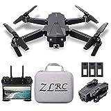 SG107 Mini Drone Plegable con Cámara 4K HD Interior RC Quadcopter con Modo sin Cabeza Rotación de 360° Trayectoria...