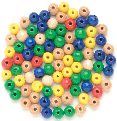 GLOREX Perle en Bois 155ST Multicolore Mélange de, Bois, Multicolore, 11 x 8,5 x 0,5 cm