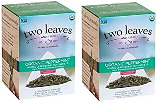 Two Leaves And A Bud Peppermint Tea 30 Count (Pack of 2)
