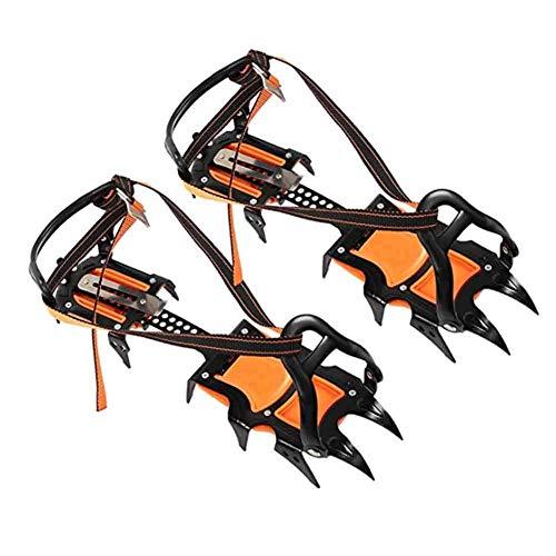 YXB Crampones para Escalada en Hielo al Aire Libre, cinturón Antideslizante para Nieve El Sistema de férula Antideslizante para Caminar Brinda protección de Seguridad para pastizales o Caminatas