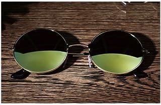 a2f886992db XENO-Mens Women Vintage Retro Round Metal Mirror UV400 Sunglasses Eyewear  Glasses(gold)