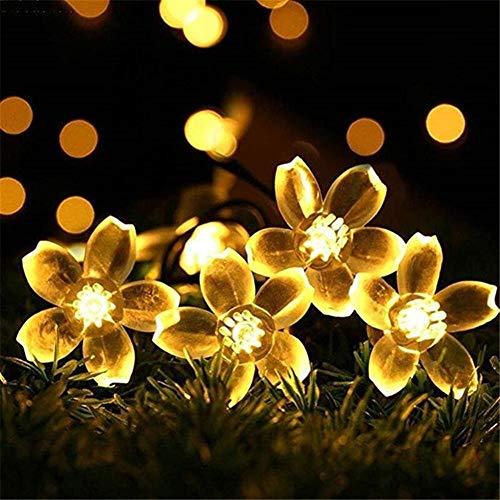 Luces 5m 12m 22m 7m melocotón flor solar de la lámpara LED...