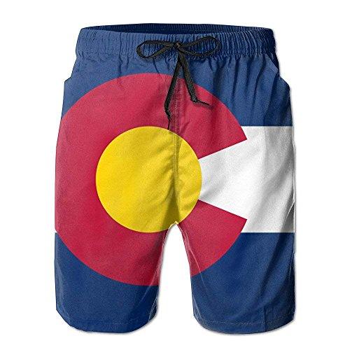 GOSMAO Pantalones Pantalones Cortos Populares Pantalones de baño con patrón Retro de Colorado Pantalones