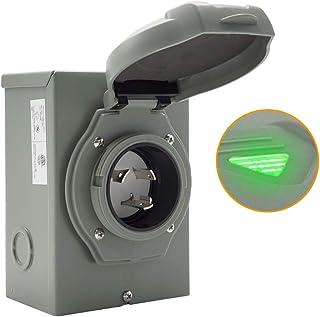 Sponsored Ad - IZTOSS RV 30 Amp Power Inlet Box NEMA L5-30P 125 Volt Outdoor Receptacle 3 Prong Locking Plug,with LED Ligh...
