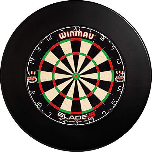 Winmau Blade 5 Set Dartscheibe Dartboard Tunierboard Plus Surround Catchring (Schwarz)