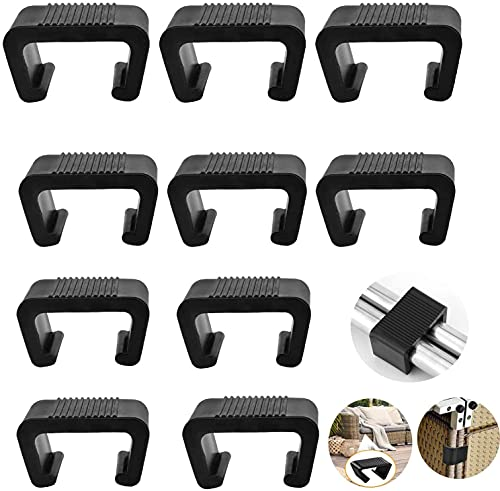 CYCFMYYLY Strong Wicker Furniture Clips can be Used in Garden Furniture Sets, Rattan Garden Furniture, Rattan Corner Sofa, Outdoor Furniture Sets, can Effectively Prevent Loosening, 5.25cm, 10 Pcs
