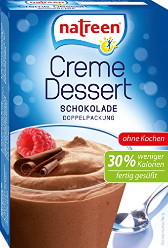 natreen Creme Dessert Schokolade, 14 mal 2er Pack, (14 x 2 x 27g )