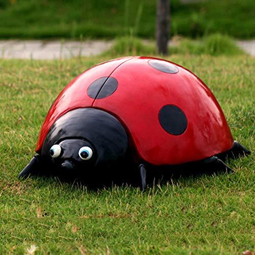 Sculptures danimaux de jardin Figurine Coccinelle Animal Sim