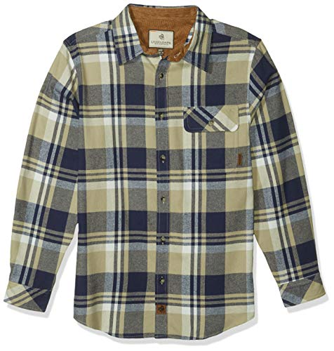 Legendary Whitetails Mens Buck Camp Flannel Shirt, Shale Plaid, Medium