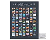 USA National Park Poster - Interactive Travel Map With All US National Parks - Made in the USA - Mark Your Travels Through Our Beautiful National Parks Great National Park Poster Gift for Dad