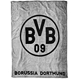 Borussia Dortmund BVB Fleecedecke mit Logo