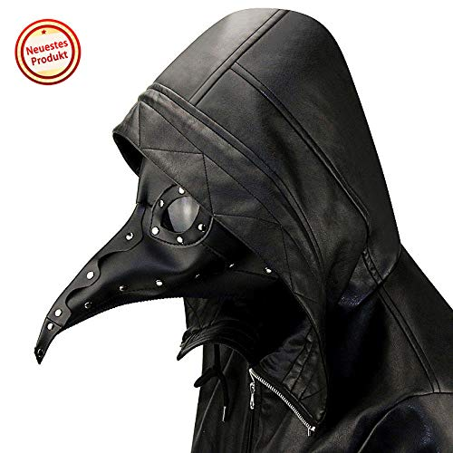 CLS813 Máscara de Halloween Niños Adultos Traje de máscara de Pico Máscara de Peste Medieval Doctor Doctor Máscara de Cabeza Fiesta Carnaval Cosplay Máscara de Venecia Carnaval Disfraz de PU