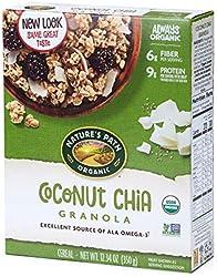 Nature's Path Organic Coconut Chia Granola, 12.34 Ounce, Non-GMO, 30g Whole Grains, with Omega-3 Ric