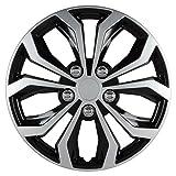 Pilot Automotive WH553-16S-BS Universal Fit Spyder Wheel Cover [Set of 4]