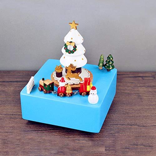 PLBB3K Caja de música Navidad Caja de Madera artesanía Creativa Regalo Regalo Navidad música Caja-Car Marina (Color : Wish)
