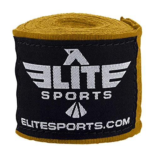 Elite Sports Boxing Hand Wraps for Kickboxing, Muay Thai, MMA Professional 180 inch handwraps for Men & Women (Blue)
