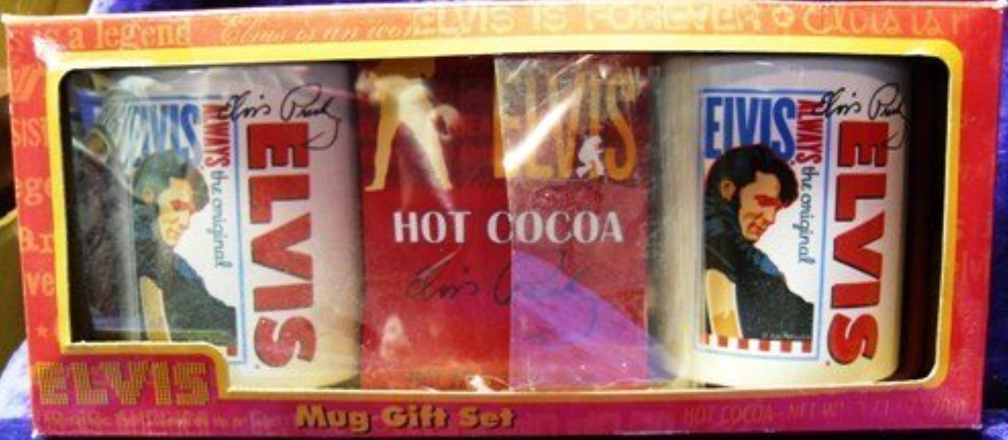 Elvis Presley 2 Mugs & Cocoa Mix Gift Set by Signature Product