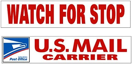 Mail Carrier Watch for Stop Decal or Magnet Rural Mail Delivery product image