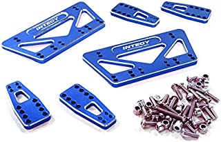 Integy RC Model Hop-ups C27015BLUE CNC Machined Chassis & Shock Mount Lift Kit for Axial 1/10 SCX-10 Scale Crawler