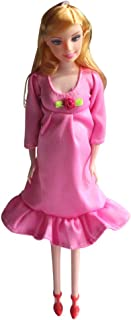 Kunhe Pink Real Pregnant Doll Have a Baby in Her Tummy Mom Doll