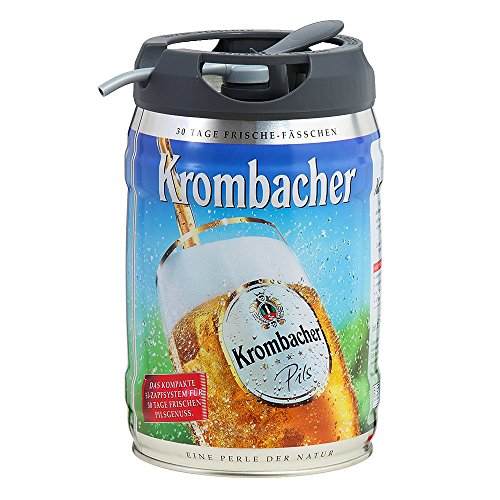 Krombacher Pils fresh barrels, 5 liters of 4,8% vol