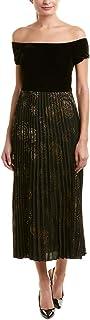 Donna Morgan Women's One Shoulder Midi Dress