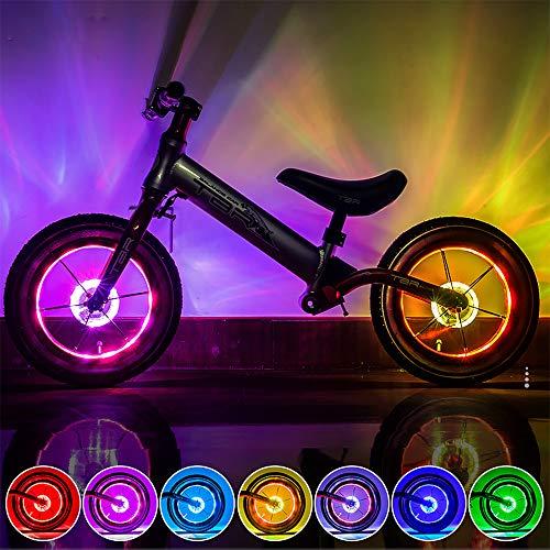 KUWAN LED Kinder Roller Licht Fahrradlicht USB Wiederaufladbar 7 Farben 18 Modi Wasserdicht für Smart Induction Kinderzubehör