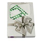 Babymajawelt® Molton Stoffwindeln 2er Pack, Geschenk Set - Wickelauflage, Spucktuch, Babydecke, Stillzubehör, Sommerdecke, Geschenk zur Geburt (gemuschelt grün)