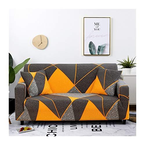 ZHAO Stretch-Plaid-Sofa-Slipcover, elastische Sofaabdeckungen für Wohnzimmer, Sofa-Stuhl Couch Cover Home Decor 1/2 / 3/4-Sitzer (Farbe : Color 18, Specification : 2 Seater 145 185cm)