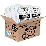 ValueWrap New Carbon Disposable Male Dog Diapers, 1-Tab Extra Small, 72 Count - Male Wraps, Activated Charcoal Odor Control, Incontinence, Snag-Free Fastener, Leak Protection, Wetness Indicator